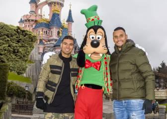 Las navidades de Casemiro y Keylor Navas en Disneyland París