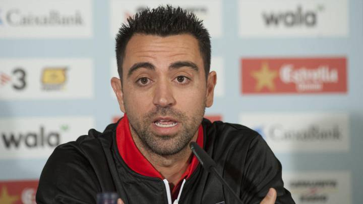 El exjugador del F. Barcelona Xavi Hernández ha comparecido en rueda de prensa horas antes del Cataluña-Túnez que se jugará esta tarde en Girona y ha asegurado que siempre es \