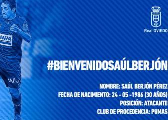 El Oviedo se refuerza para la segunda vuelta con Saúl Berjón