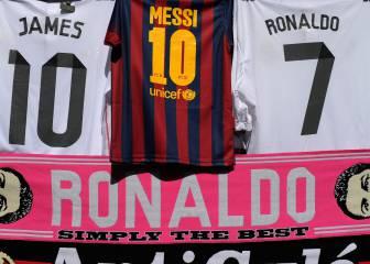El Madrid vende 370.000 camisetas más que el Barça