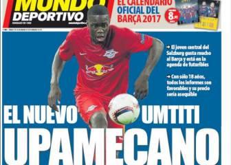 La amenaza del City y el interés por Upamecano, en la prensa