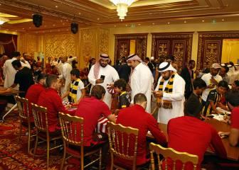 Pasión rojiblanca entre los aficionados de Jeddah