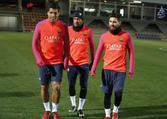 Volvió el tridente: Neymar, Suárez y Messi se entrenaron