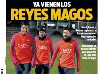 Los Reyes son el tridente para las portadas de Barcelona
