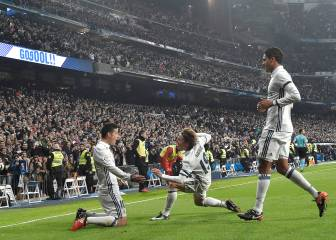 James and Varane put Madrid in the driving seat