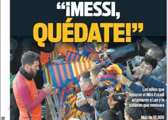 """Los niños hablaron: """"Messi, quédate"""""""
