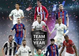 Once UEFA: cuatro del Madrid, tres del Barça y Griezmann