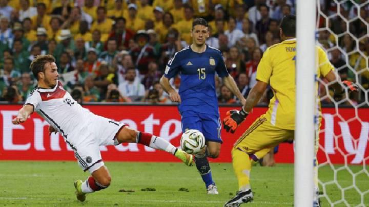 Götze marca en la final del Mundial.