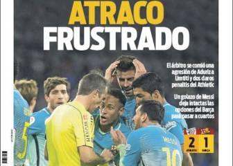 La prensa de Barcelona dispara contra Borbalán: atraco frustrado