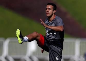 Thiago deja el entrenamiento por una lesión en el muslo