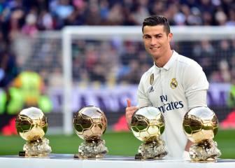 Cristiano ofreció su cuarto Balón de Oro al Bernabéu