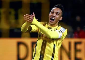 Aubameyang, el mejor de la primera vuelta en la Bundesliga