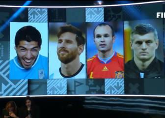 Se hace viral la foto de Luis Suárez en el once de 'The Best'