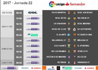 El Osasuna-Real Madrid será el sábado 11 de febrero a las 16:15