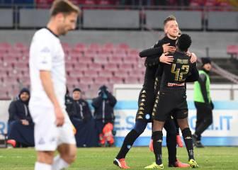 El Nápoles se clasifica a cuartos de la Coppa y debuta Pavoletti