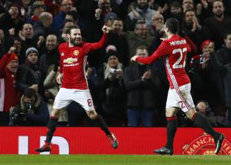 Mata y Fellaini encarrilan el pase del United a la final de la EFL Cup