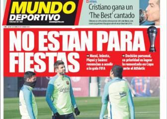 El acoso a Piqué y el plantón a la FIFA en las portadas de Barcelona