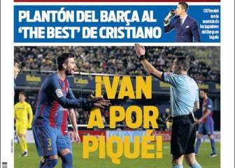 El acoso a Piqué y el plantón a la FIFA, en la prensa de Barcelona