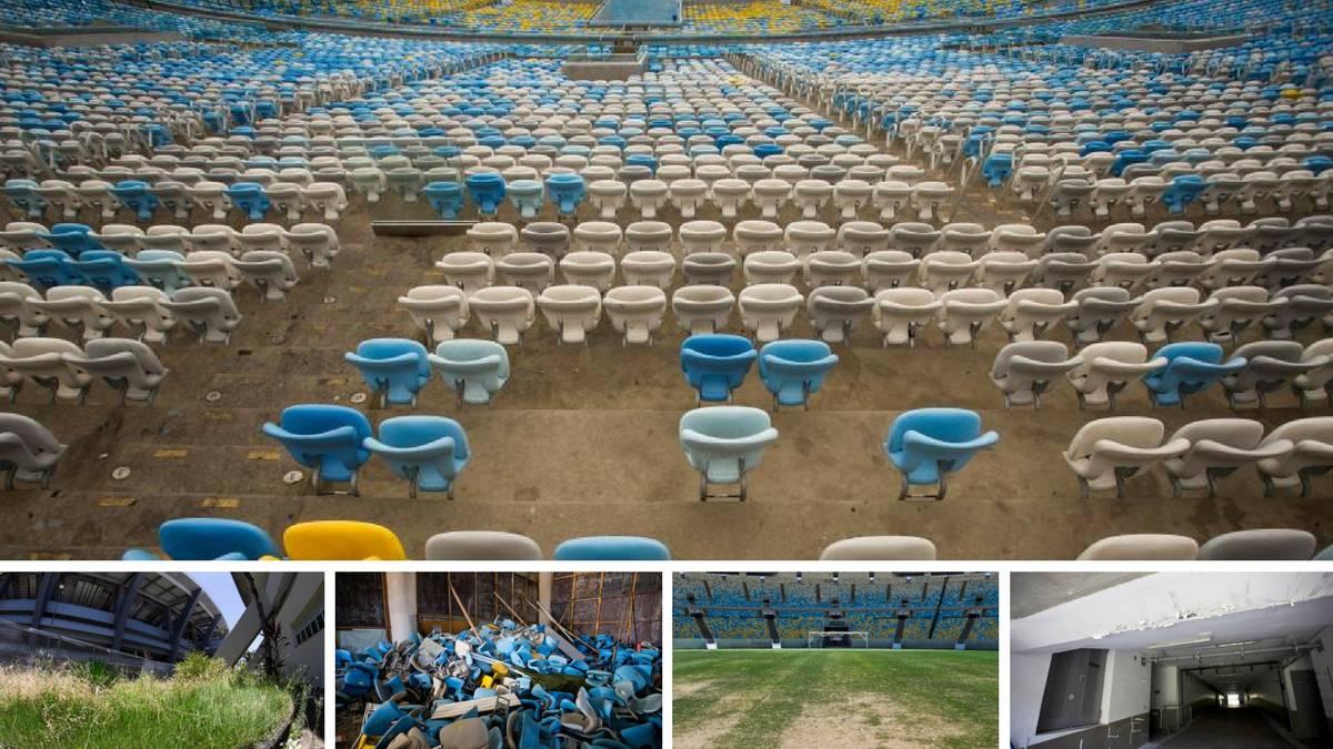 Maracaná: deplorable estado y robos en sus instalaciones