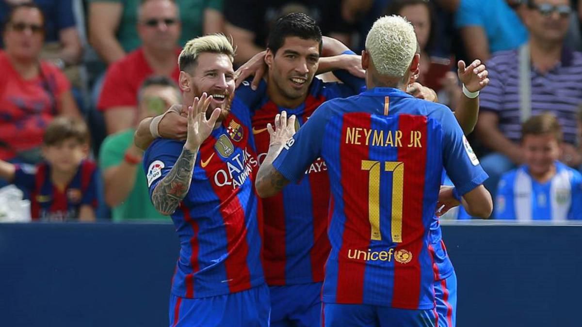 Messi-Neymar-Suárez: 300 goles desde la temporada 2014-15