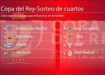 Hoy, sorteo puro: Madrid, Barça y Atlético pueden cruzarse