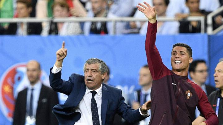 Fernando Santos y Cristiano Ronaldo