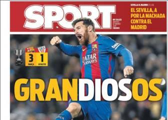 Euforia en la prensa de Barcelona por la remontada