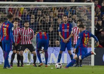 Messi (26), el mejor tirador de faltas de la historia del Barça