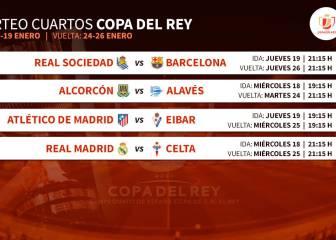 Real Madrid-Celta, Atleti-Eibar, Real-Barça, Alcorcón-Alavés