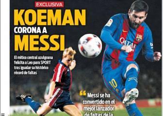 Messi será mito, pero ya supera a leyendas