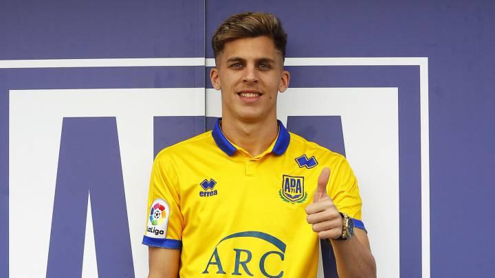 Alejo, jugador del Alcorcón.