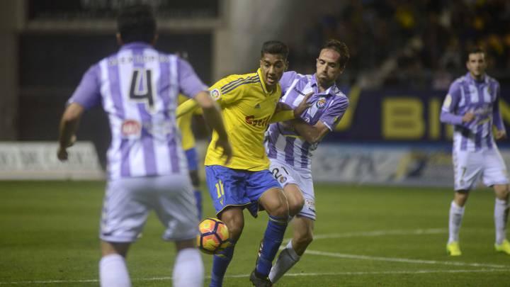 El Valladolid rompe la racha del Cádiz con un gol de Jordán