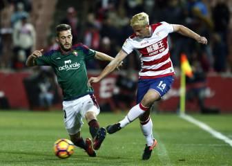Granada y Osasuna firman un reparto insuficiente de puntos