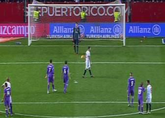 Cristiano dio a Vitolo con el balón por pisotear el punto de penalti
