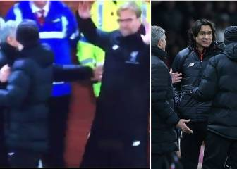 Mourinho y Klopp protagonizan la bronca más divertida