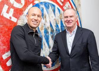 Robben llega a un acuerdo con el Bayern y renueva hasta 2018