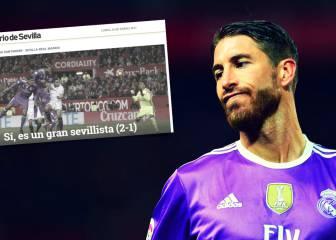 Mofa en la prensa de Sevilla con el autogol de Ramos