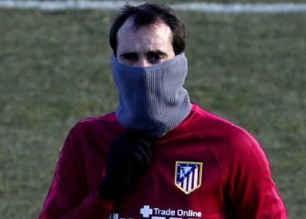 Un apagón acortó la sesión de entrenamiento del Atlético