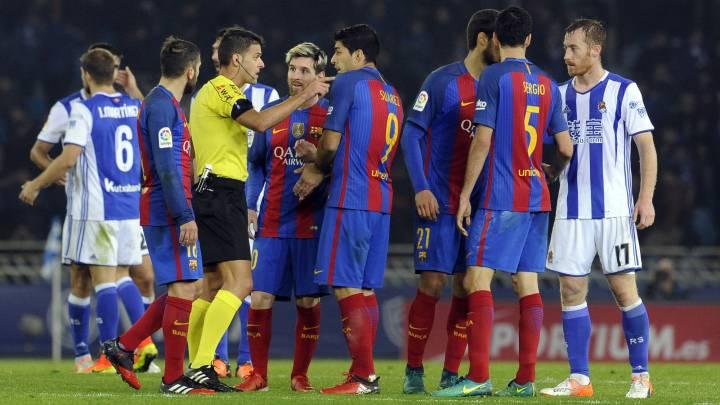 Partido entre el Barcelona y la Real Sociedad.