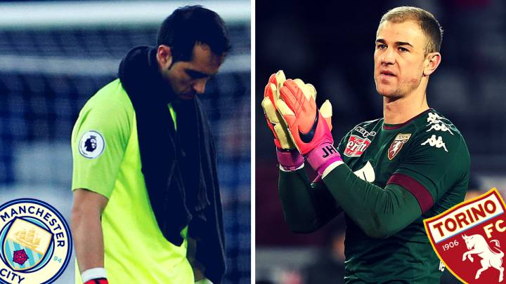 Claudio Bravo y Joe Hart.