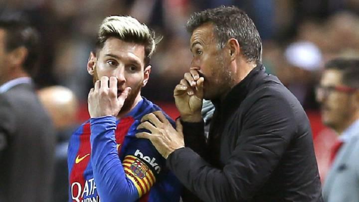 Messi y Luis Enrique.