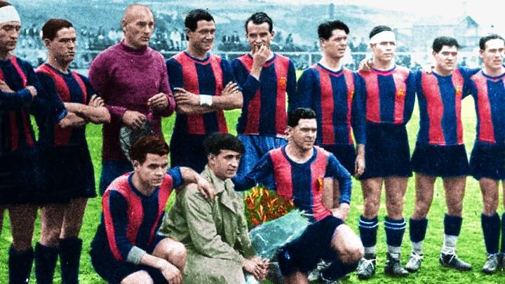 El Barça jugó aquel día con Platko; Walter, Mas; Guzmán, Castillo, Carulla; Piera, Sastre, Samitier, Arocha y Parera.