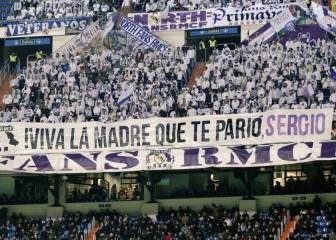 Real fans unfurl Ramos banner in wake of Sevilla controversy