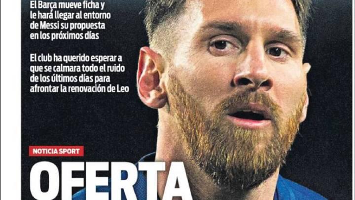 Portada del Diario Sport del día 18 de enero de 2017.