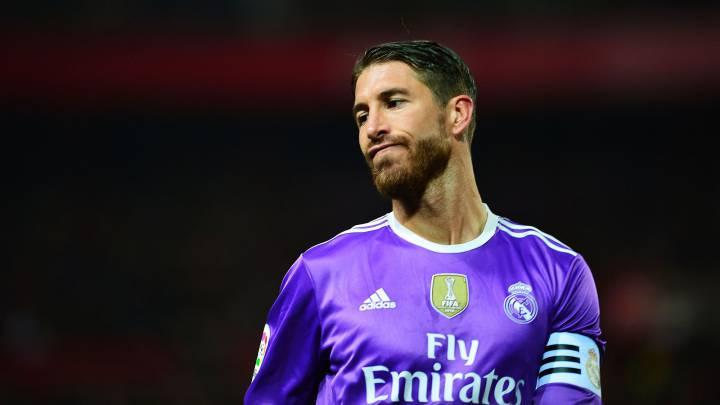 Sergio Ramos durante el partido entre el Sevilla y el Real Madrid en el Sánchez Pizjuán