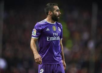 Dani Carvajal facing spell on sidelines with hamstring injury