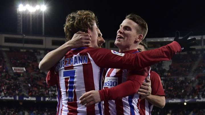 1x1 del Atlético: Griezmann al mando y Correa, marcando