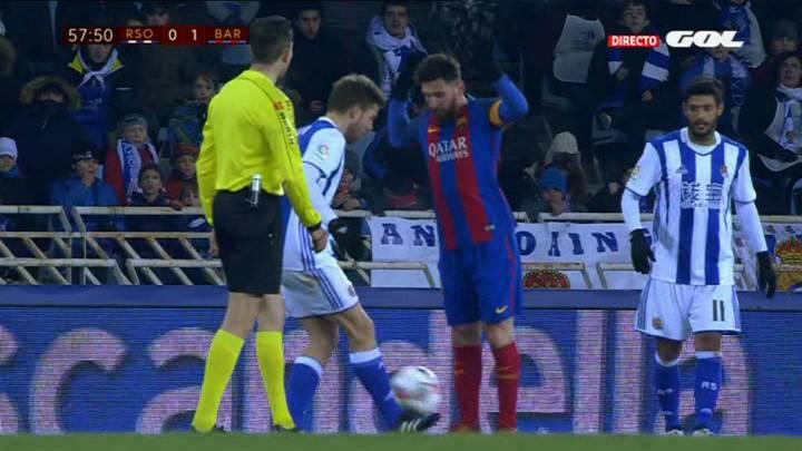La Real pidió la roja para Messi y Neymar y el Barça, otro penalti