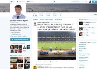 'Rajada' de un dirigente del PP contra el Barça y el colegiado