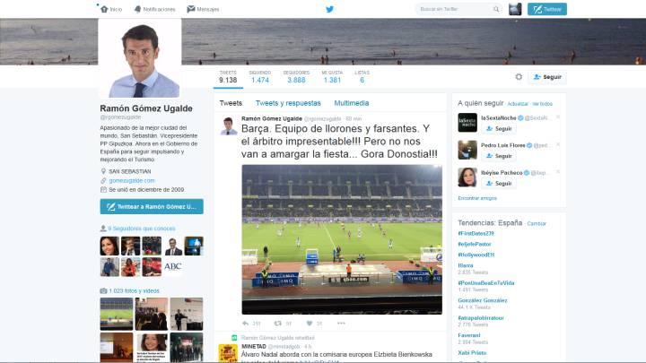 \'Rajada\' de un dirigente del PP contra el Barça y el colegiado